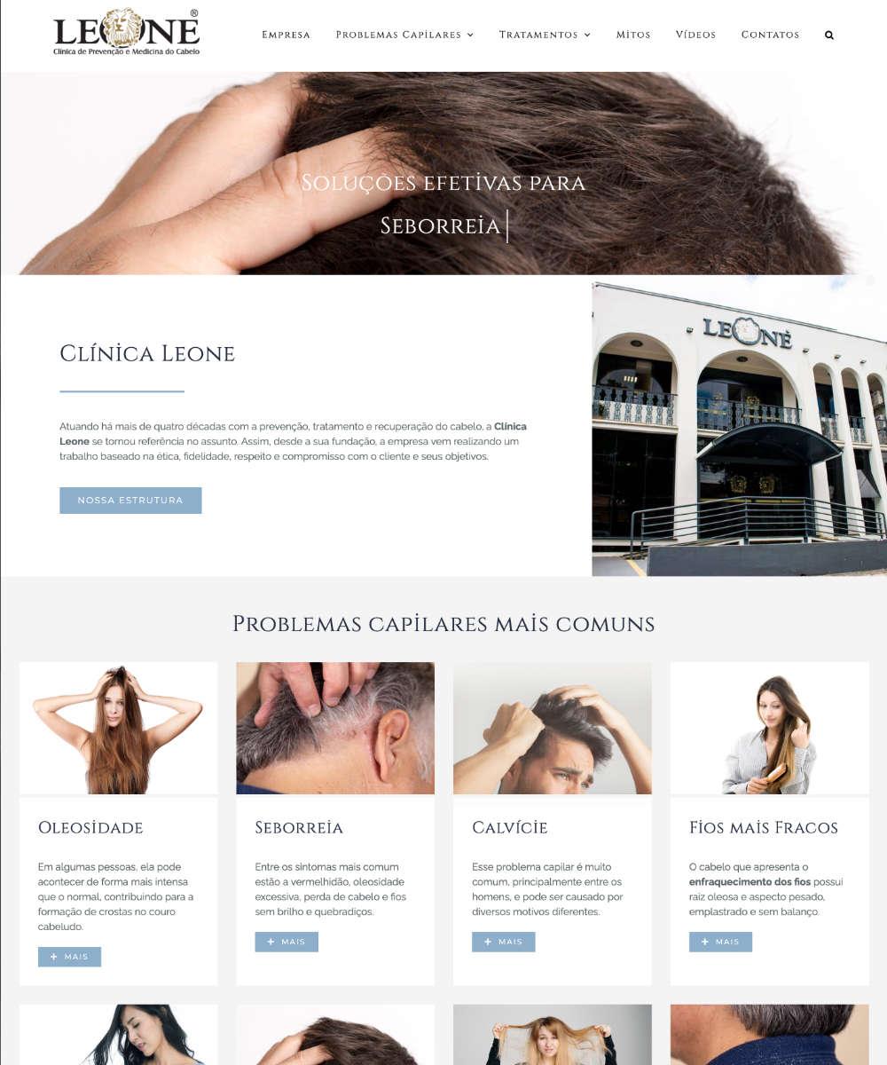 Criação de Sites Clinica Leone