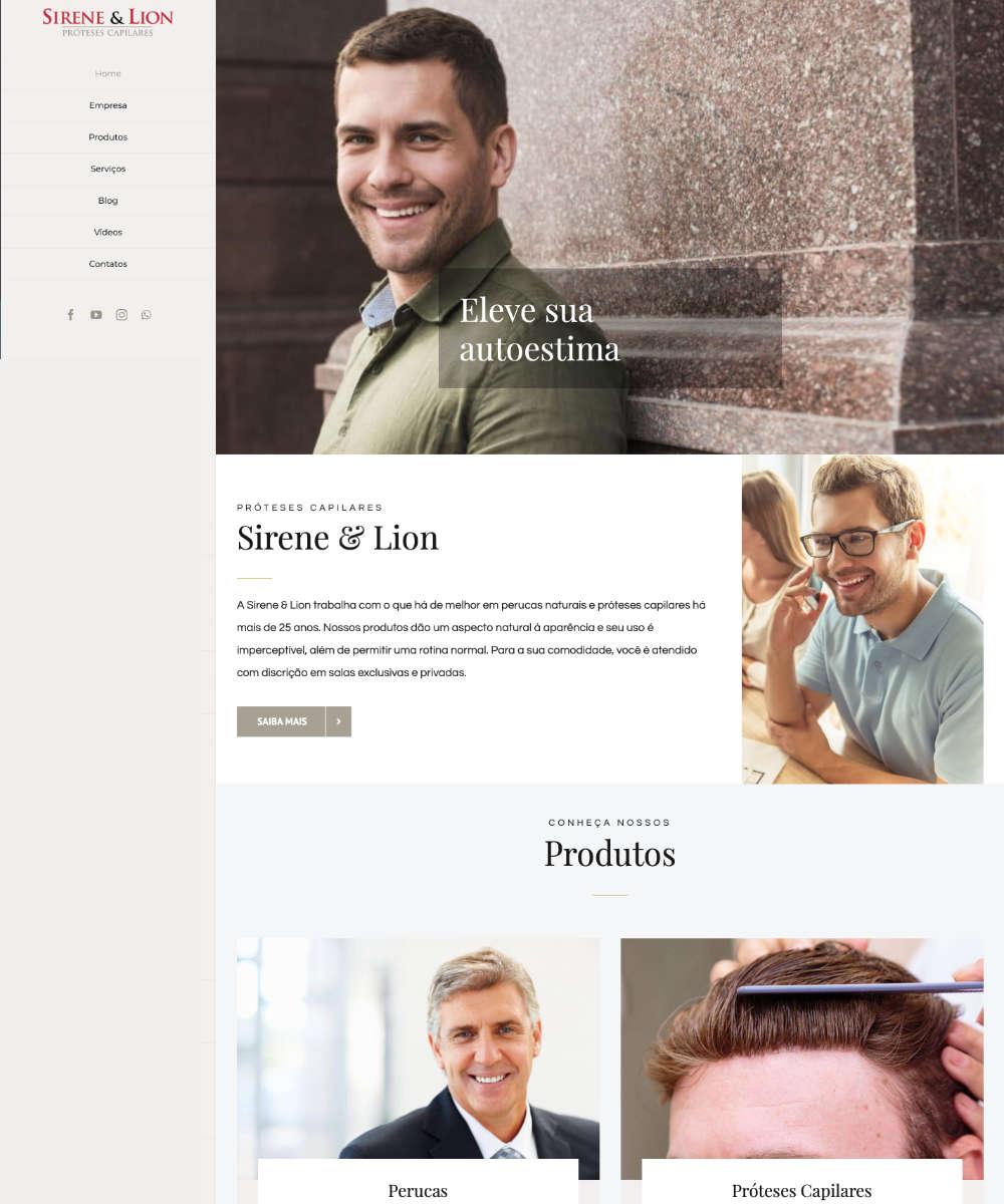 Criação de Sites Sirene e Lion